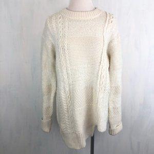 NEW Calvin Klein Patchwork Knit Sweater L